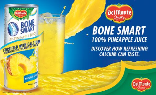 Del Monte Bone Smart 100% Pineapple Juice