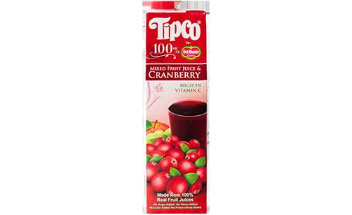 Tipco 100% Mixed Fruit Juice & Cranberry