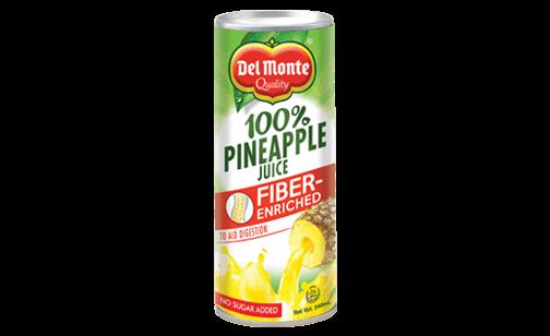 Del Monte 100% Pineapple Juice Fiber-Enriched