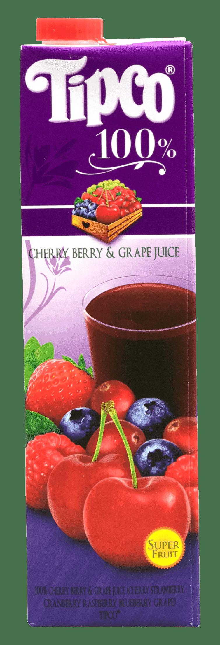 Tipco 100% Cherry Berry & Grape Juice
