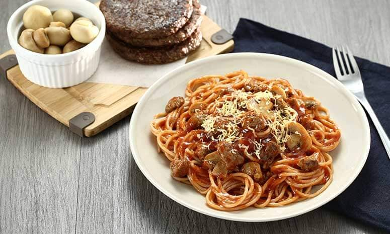 All-Beef Burger Pasta Recipe