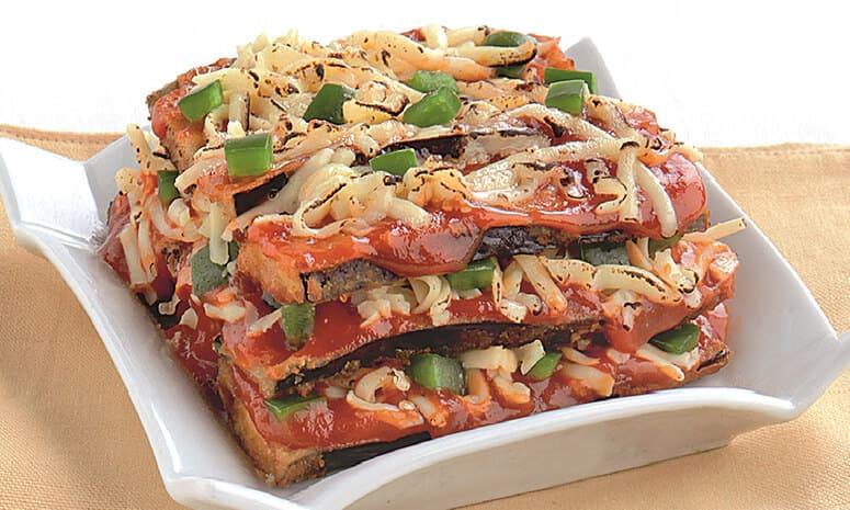 Cheesy Eggplant Layers Recipe