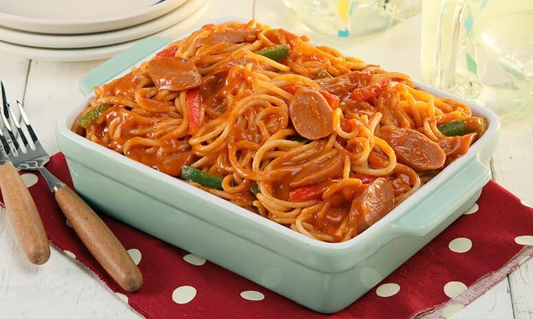Chicken Hotdog Spaghetti Recipe