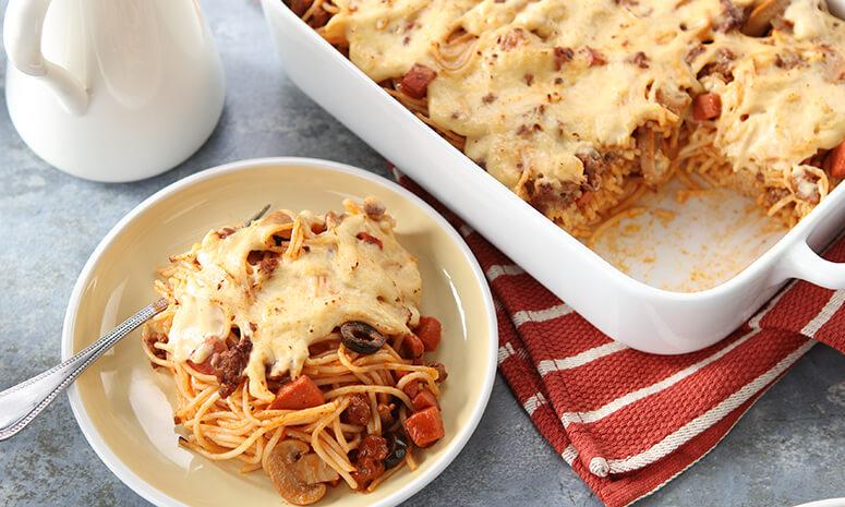 Creamy Baked Spaghetti Recipe (Party)