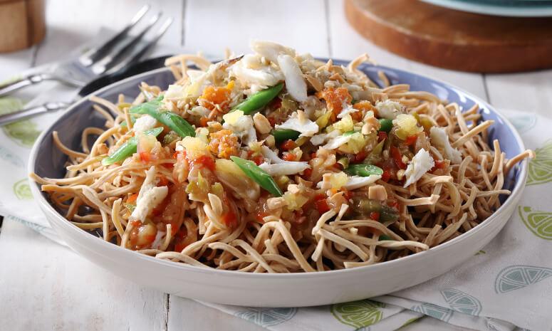 Crunchy Crab Noodles Recipe