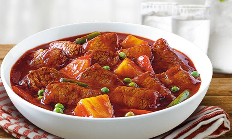 Family-size QNE Beef Caldereta Recipe