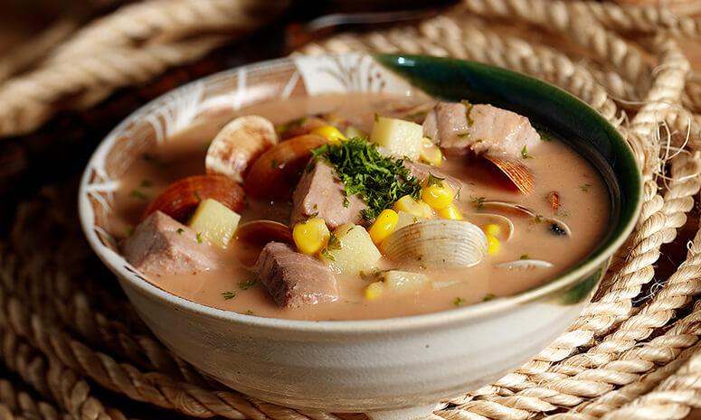 Fish, Clam and Corn Chowder Recipe