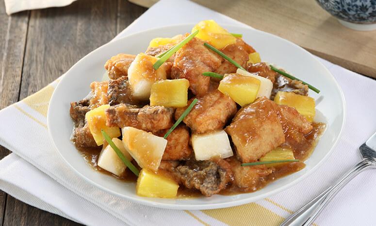 Fish in Pineapple Ginger Sauce Recipe