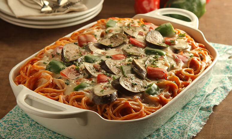 Four Cheese Spaghetti Recipe