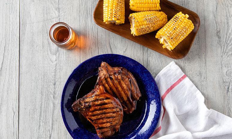 Grilled Honey BBQ Pork Chops Recipe