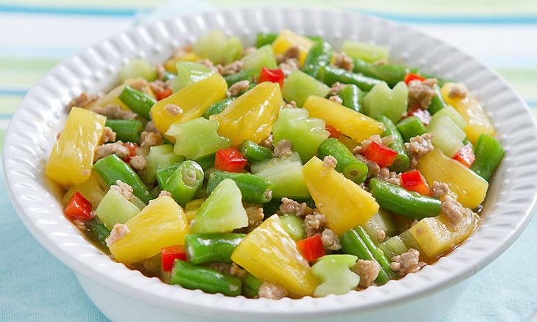 Guisadong Gulay at Pinya Recipe