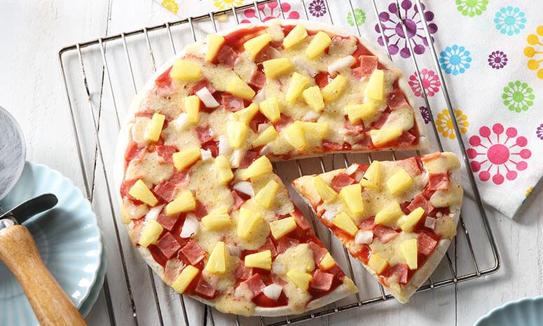 QNE Ham and Cheese Pizza Recipe