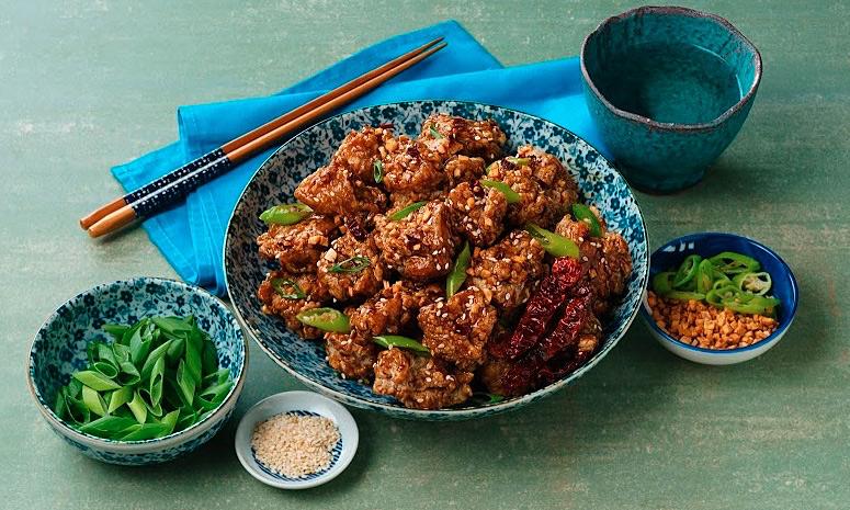 Korean Spicy Garlic Fried Chicken Recipe