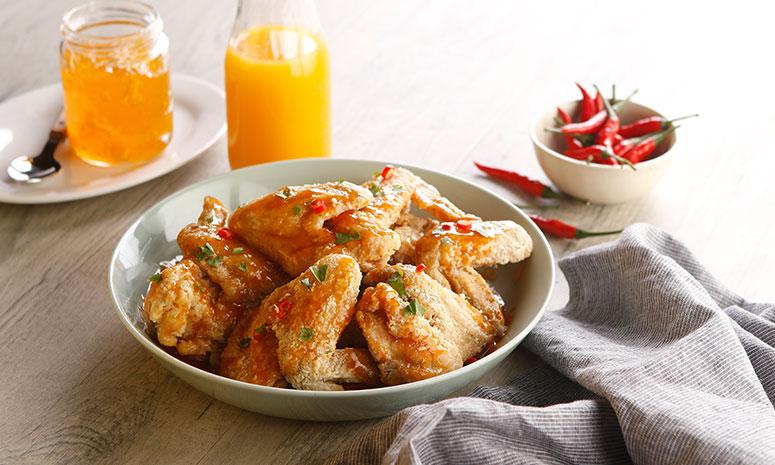 Mango Glazed Wings Recipe