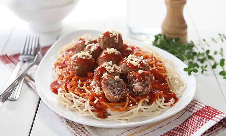 Meatless Meatball Spaghetti Recipe