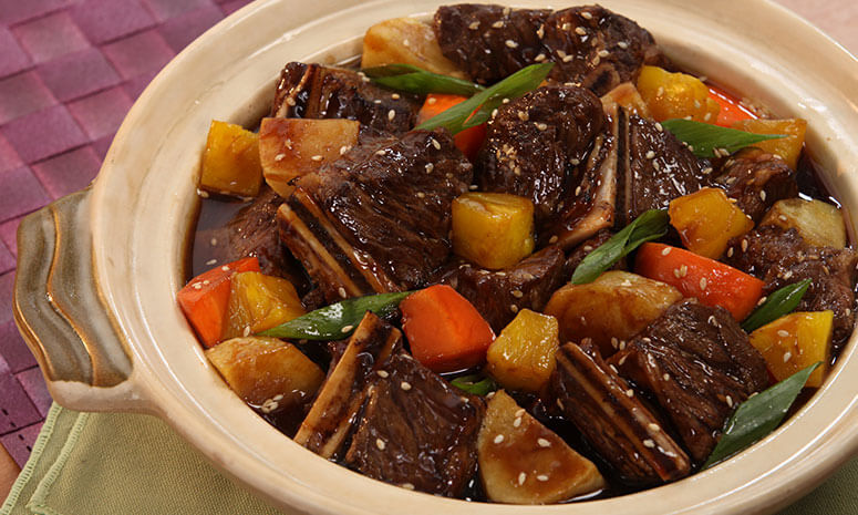 Pineapple Korean Beef Stew Recipe