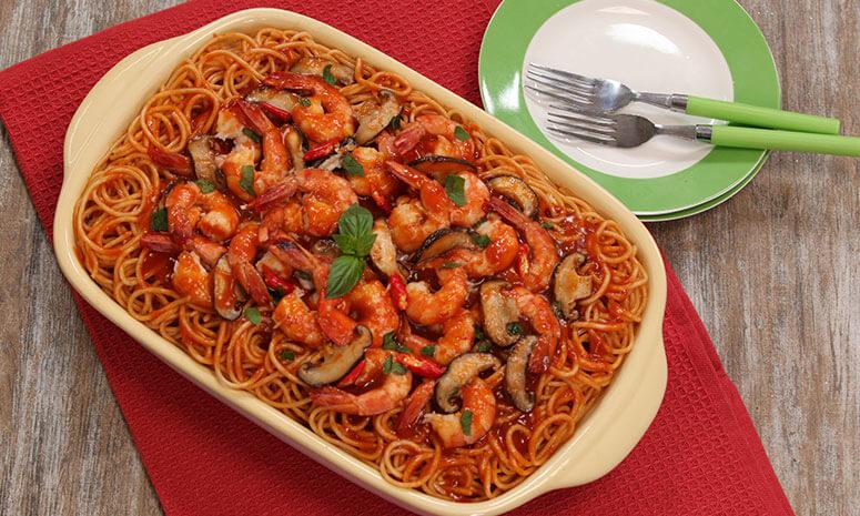 Pasta with Shrimps Recipe