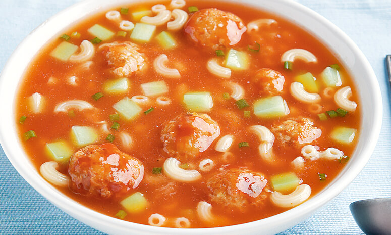 Pasta Soup with Meatballs Recipe
