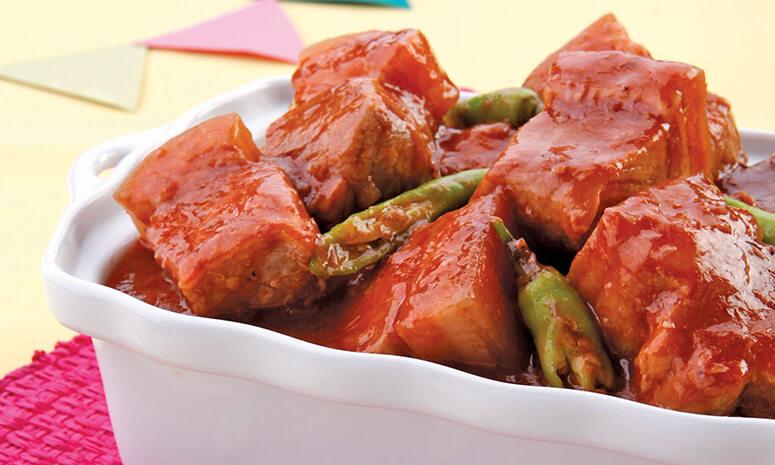 Red Pork Binagoongan Recipe