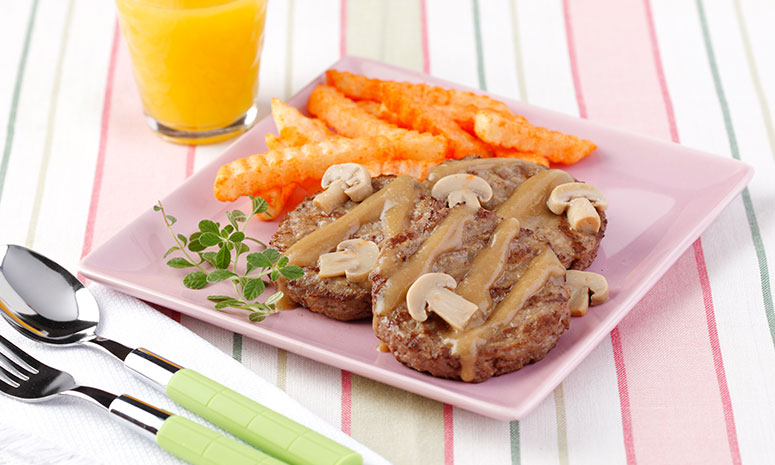Saucy Burger Steak Recipe