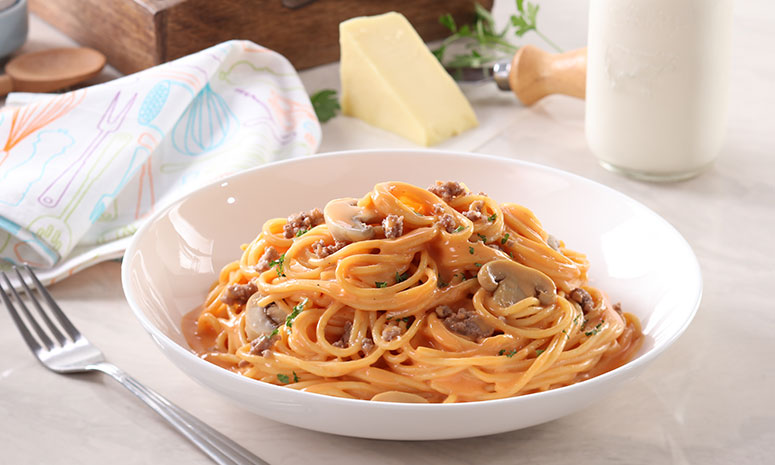 Saucy Cheesy Spaghetti Recipe