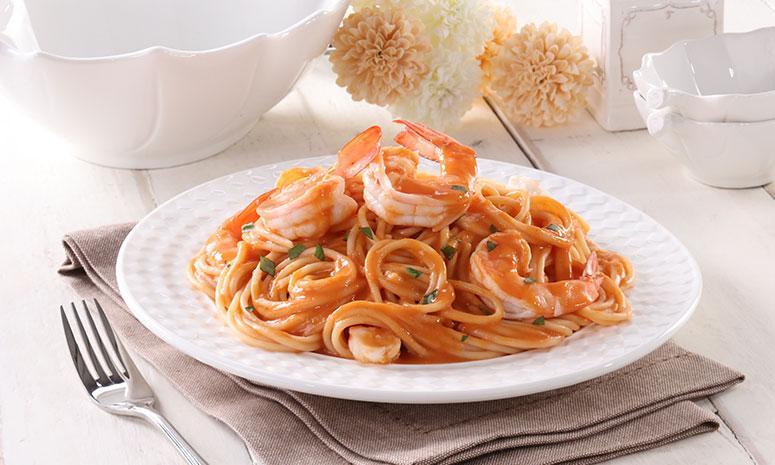 Shrimps in Tomato Cream Sauce Recipe