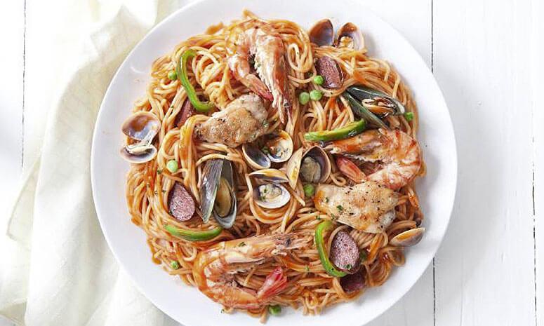 Spaghetti A La Paella Recipe