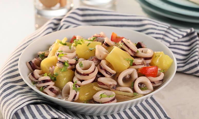 Squid Piña Guisado Recipe