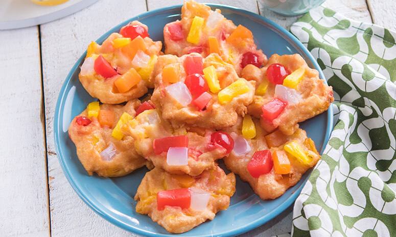 Sticky Fruit Fritters Recipe