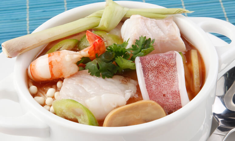 Sweet and Sour Seafood Soup Recipe