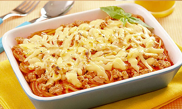 Baked Spaghetti with Meat Recipe
