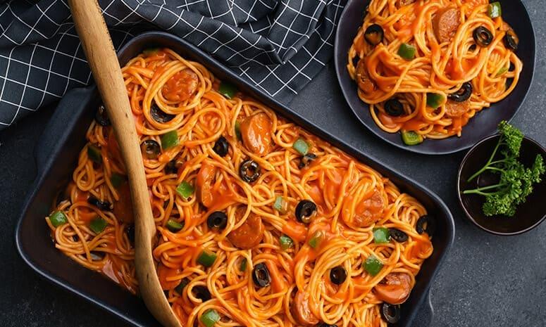 Cheesy Chorizo Pasta Recipe