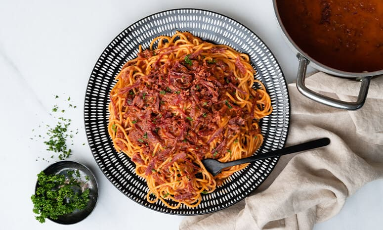 Cheesy Corned Beef Pasta Recipe