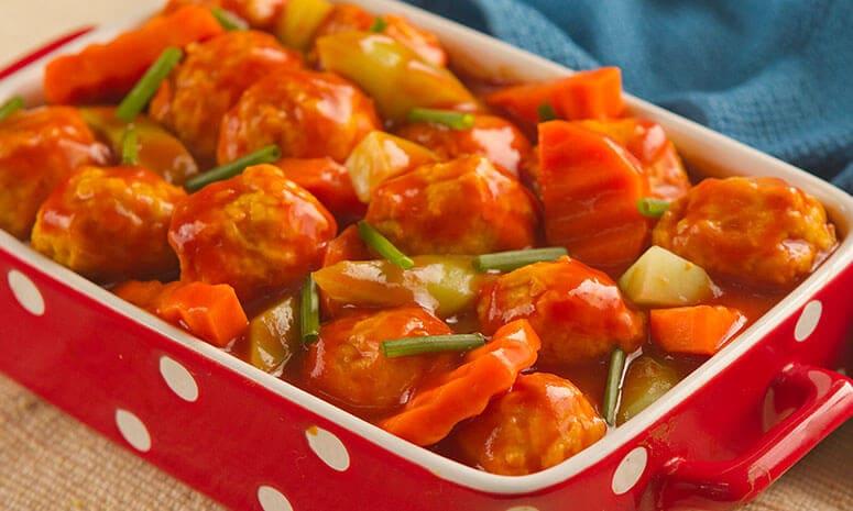 Chicken Balls in Tomato Sauce Recipe