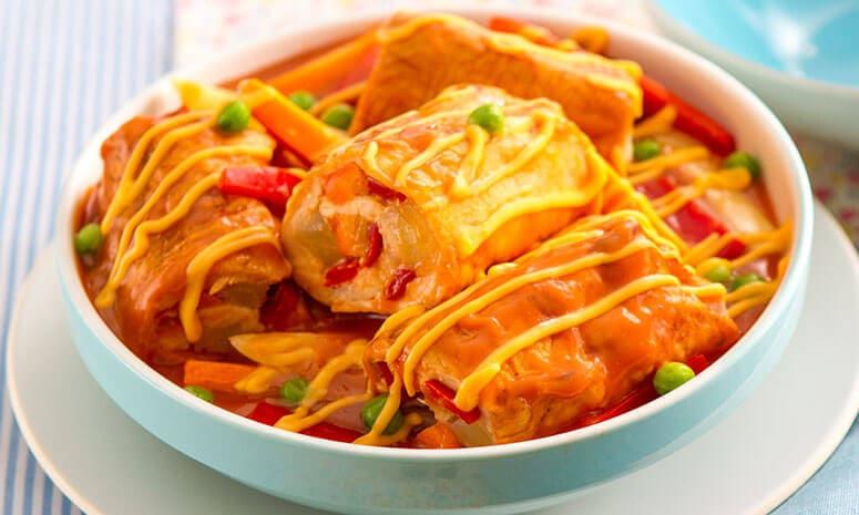 Chicken Caldereta Roulade Recipe