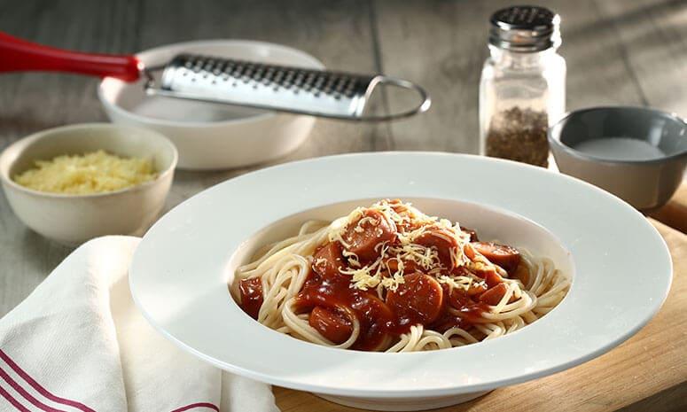 Chicken Cheesedog Spaghetti Recipe