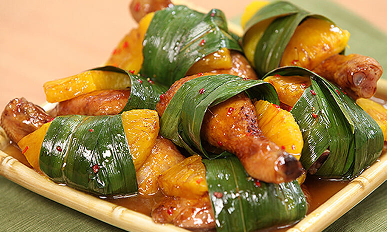 Chicken Pineapple Pandan Recipe (Party)