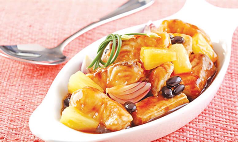 Fish With Pineapple Tausi Sauce Recipe
