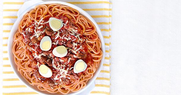 Longganisa and Quail Eggs Spaghetti Recipe (Party)
