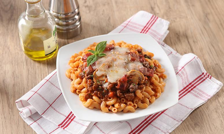 Macaroni with Beef and Mushroom Recipe