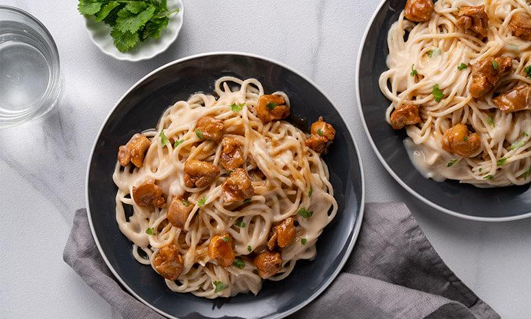 Maple Chipotle Chicken Carbonara Recipe