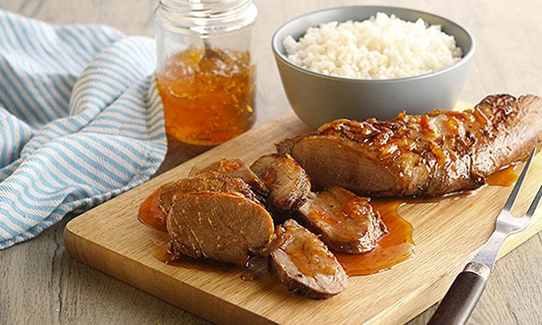 Orange Glazed Pork Tenderloin Recipe