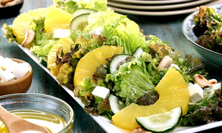 Pineapple Garden Salad With Calamansi Vinaigrette Recipe