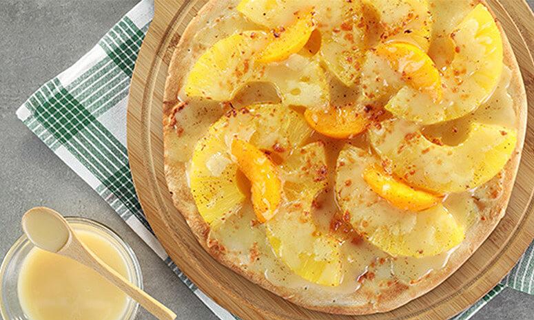 Pineapple Peach Pizza Recipe