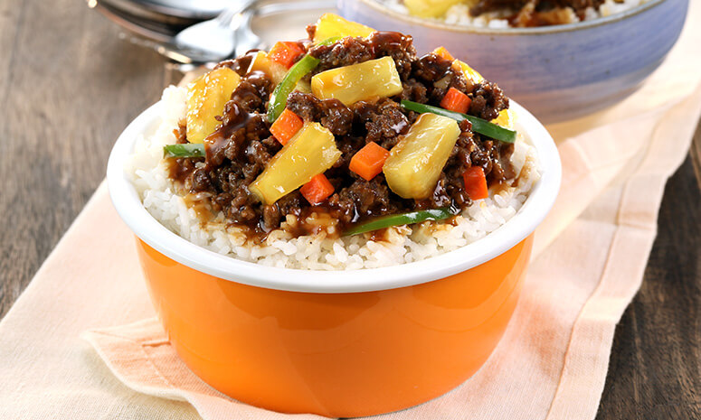 Pineapple Beef Rice Topping Recipe