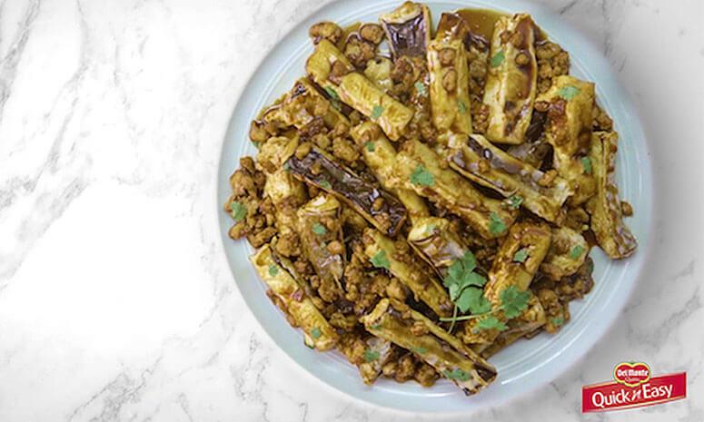QNE Saucy Meaty Eggplant Recipe