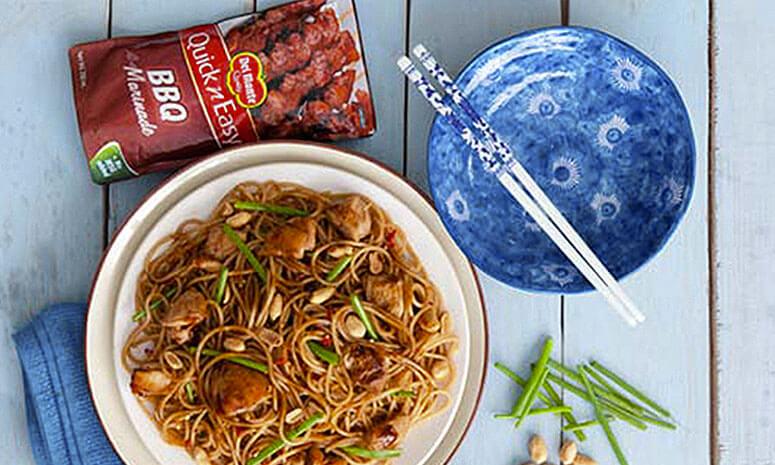Sesame Soy Chicken Noodles Recipe